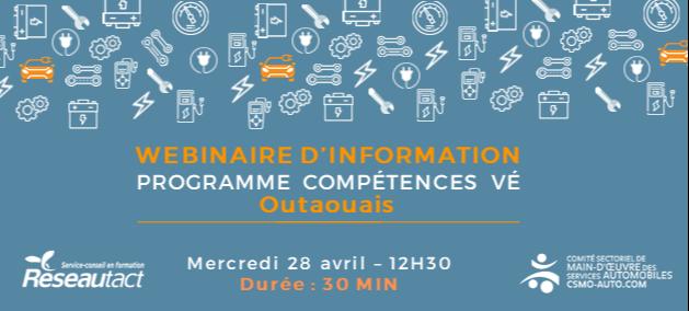 Lancement Compétences VE Outaouais – 28 avril 2021